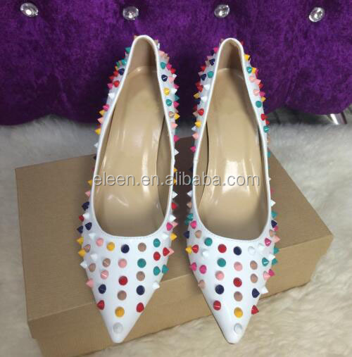 shoes with 12cm women party fashion rivet heel New high FpPwxY70pq