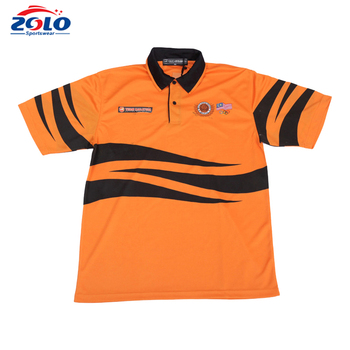 Wholesale cheap price fully dye sublimated orange rugby jersey