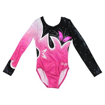 3433b313433f5 Crystal long sleeves spandex gymnastics leotards for girls, View ...