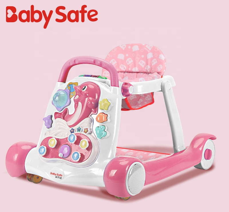 Rolling new model Fashionable Easy to Fold Learn 3-in-1 Comfort Best ford walker for baby