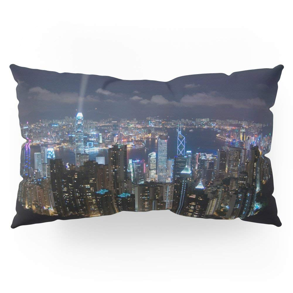 "Society6 Hong Kong- Victoria Peak Pillow Sham King (20"" x 36"") Set of 2"
