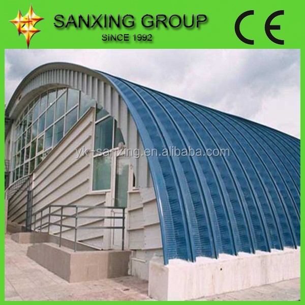 Made In China No Structure Arch Roof Panel Producing Line