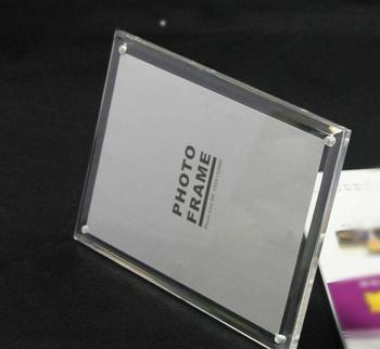 Countertop Custom Engraved Glass transparent plastic  Paperweights acrylic block photo frame
