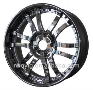 Chrome Outer,Chrome Center Multi Spoke Luxury Three Piece Forged Wheel