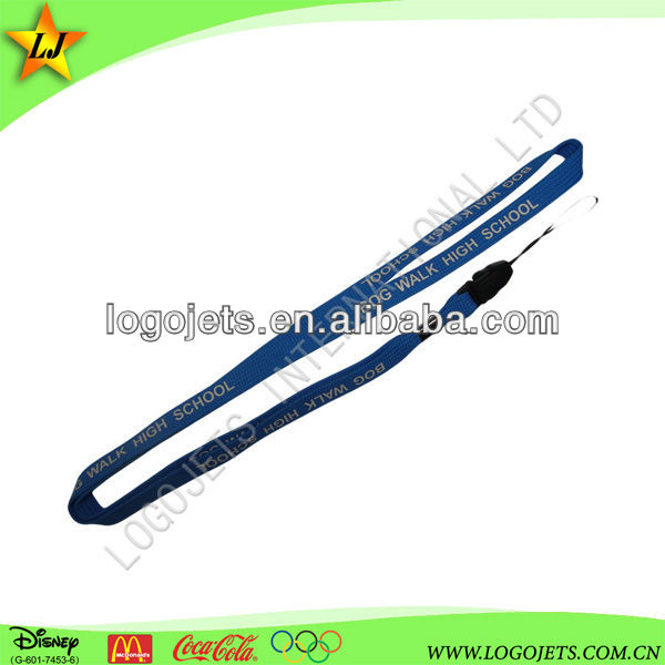 Customized Professional Good price of Logo Print polyester cord lanyard