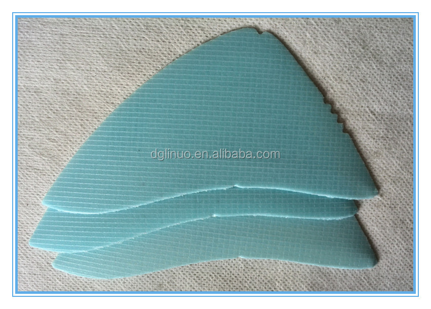 Toe puff and heel counter parts shoe reinforcement material