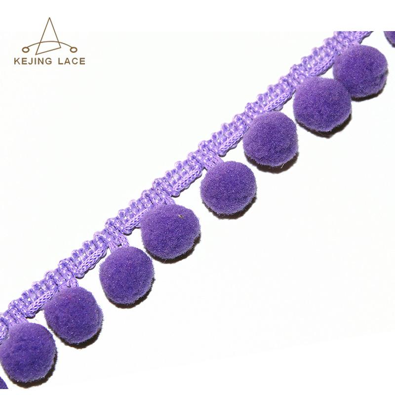 Eco-friendly Crochet Trim Custom Pom Pom Trimming