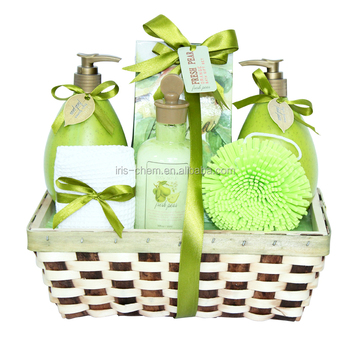 Whosales comfortable Fresh pear spa and body care products shower gel body loiton bubble bath