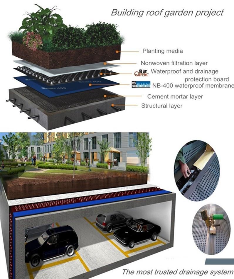 Self Adhesive Pvc Roofing Basement Rubber Waterproof