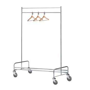 Stainless Steel Clothing Cart / Laundry Rack Cart