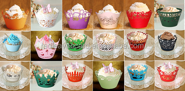 Unique lovely wholesale mini cup cake mould box cases wedding favors birthday decoration