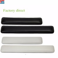Pu leather material soft white and black small long wrist rest keyboard pad