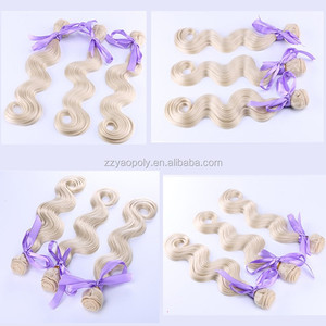 china suppliers cheap #613 color body wave synthetic hair weft / weave