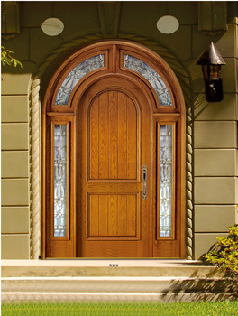 Orginal Church Arched Double Doors Solid Mahogany Wood Front