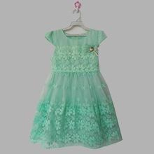 Big Kids Girls Dress summer princess short sleeved Chiffon Dress purple green pink