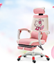 Cute dreaming lovely doraemon pattern pink reclining for girl computer chair gaming chair for lady
