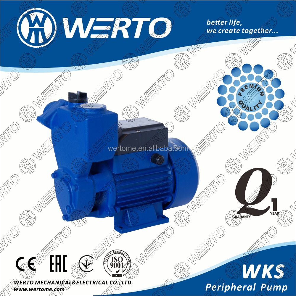 0.5hp~1hp water pump peripheral pump italy pump with open impeller