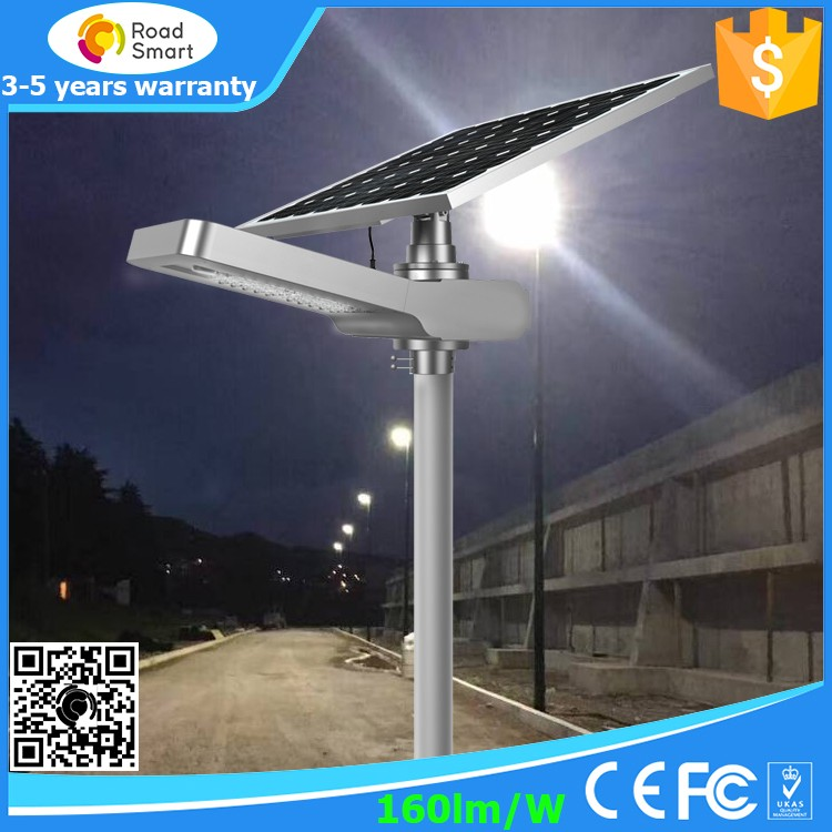 20W 30w Integrated Solar Powered LED Outdoor Lamp Lighting System for Street Garden with Replacement Mono Panel