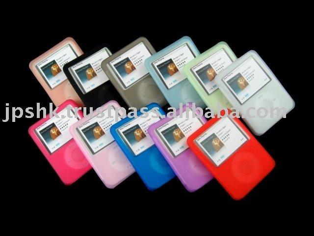 Silicone Skin Case For Ipod Nano 3 Gen MP3