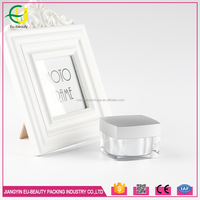 50g clear frost glass cosmetic cream jar with silver lid wholesale