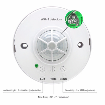 Sensor Switch Standard Range, Dual Technology Ceiling Mount Occupancy Sensor,  White