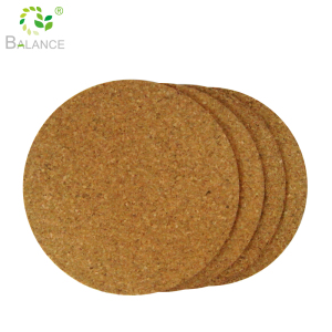 Newest heat-resistant cork backed coasters custom design cork coasters