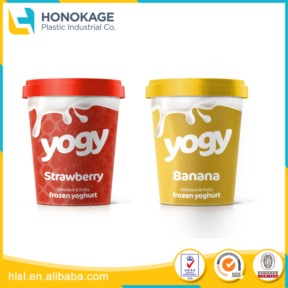Colorful Custom Different Types Of Packaging for Yogurt, Round Yogurt Cup with Lid