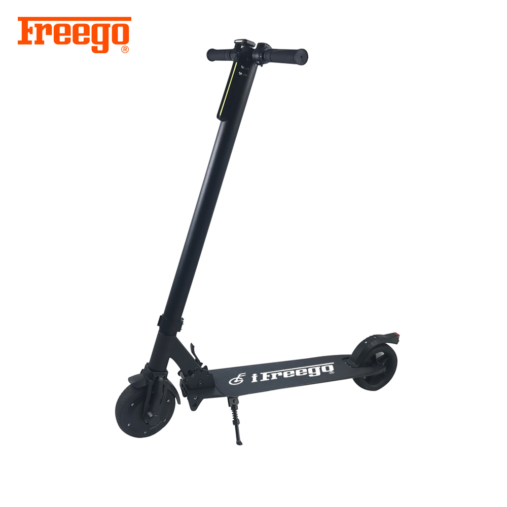 CE approved cheap electric kick lithium-ion battery scooter for kids, Black
