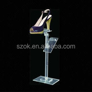 Luxury high quality acrylic shoe rack for home or shoe store display