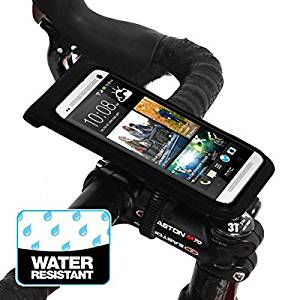 BM WORKS Slim3 R Water Resistant Smartphone Bike Mount Medium Size - Bicycle Phone Case Holder for iPhone 6, 5S, 5C, 5, 4S, 4, Samsung Galaxy S5, S4, Nexus 5, 4, HTC One Mini, Desire 320, Desire 510, Sensation XL, Incredible S, Motorola Droid Ultra, Droid Maxx, Droid Mini, Moto E, Moto G, Moto X,