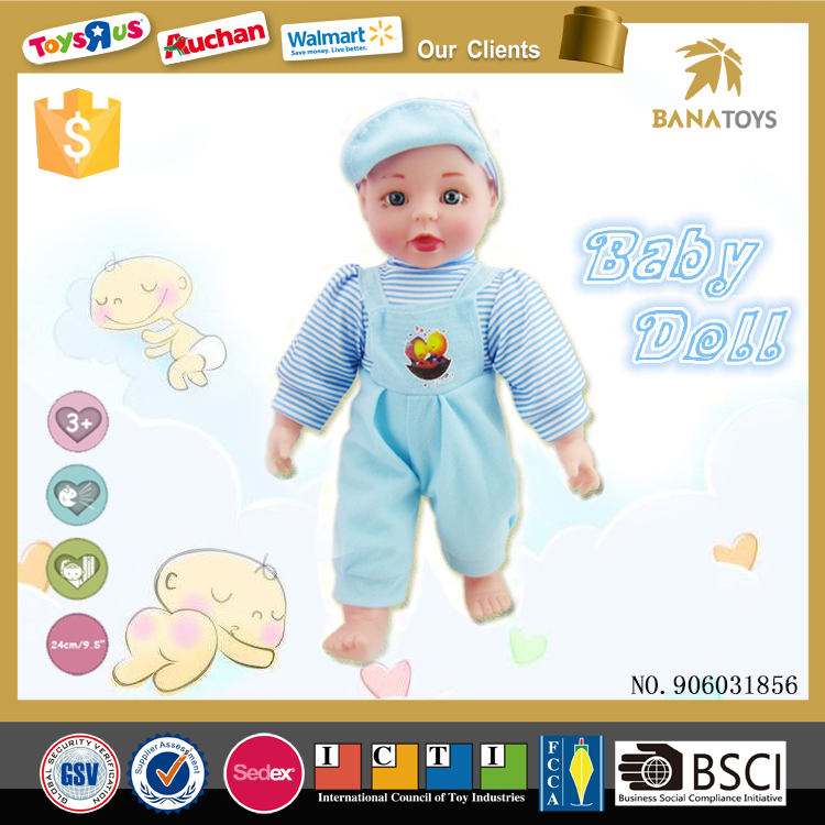 Lovely navie 14 inch child silicone doll with sound
