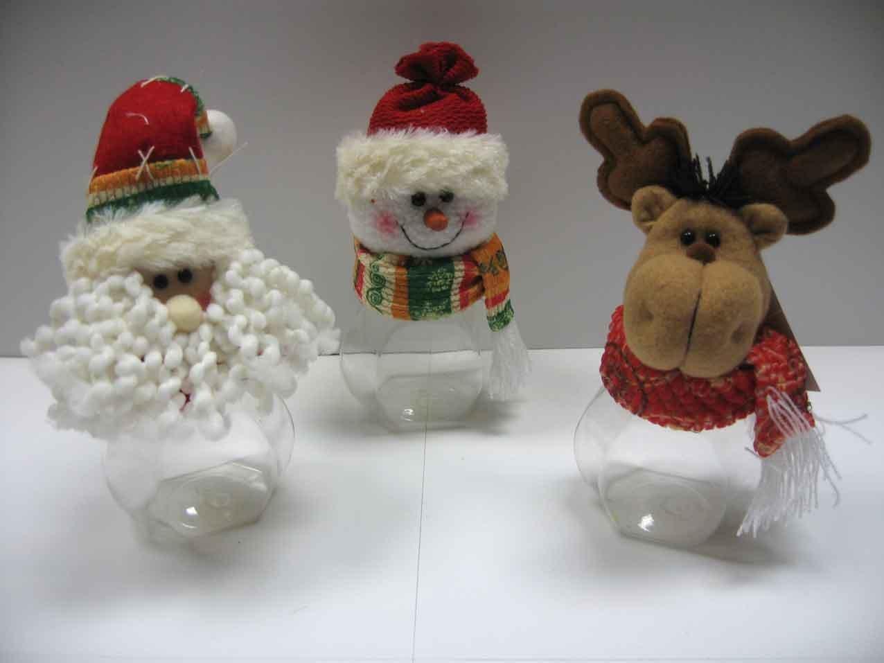 Tela decoraci n de navidad con botella de pl stico otros for Adornos navidenos hechos con botellas plasticas