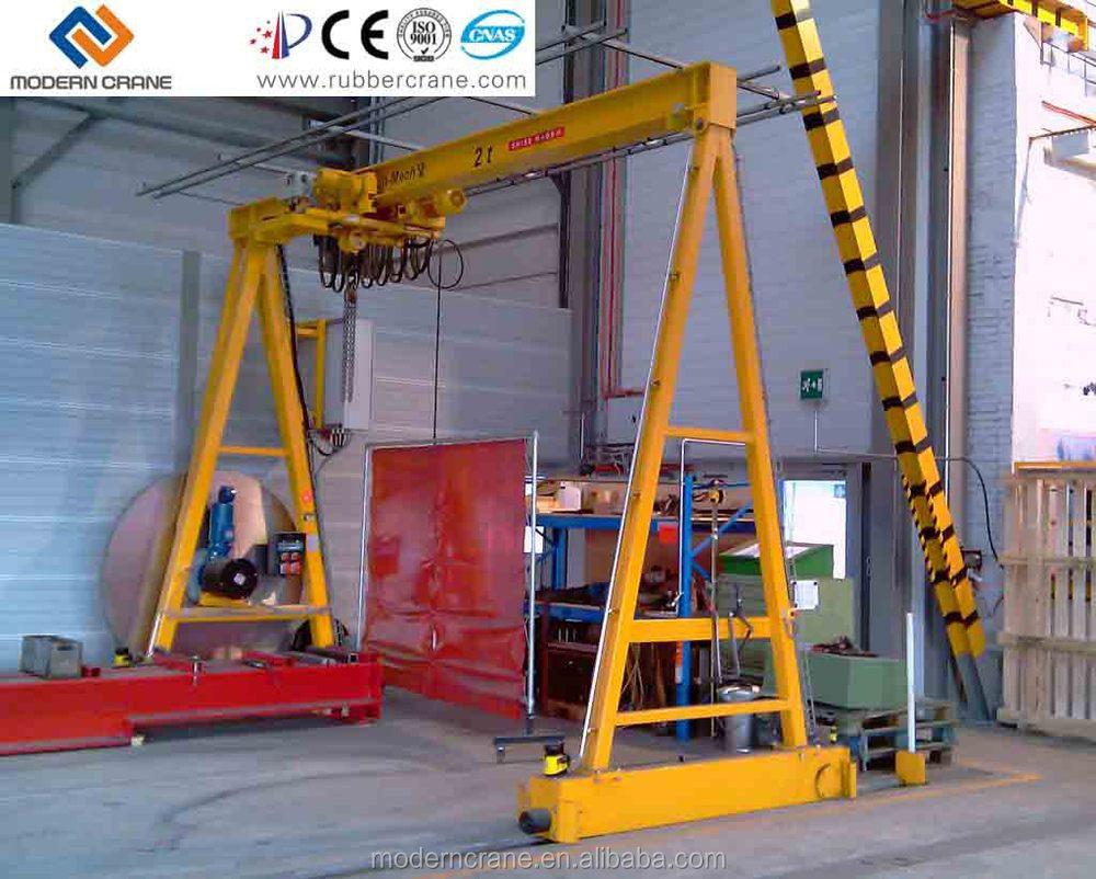 Jib Crane Wheels : Portable hoist frame with wheels gantry crane