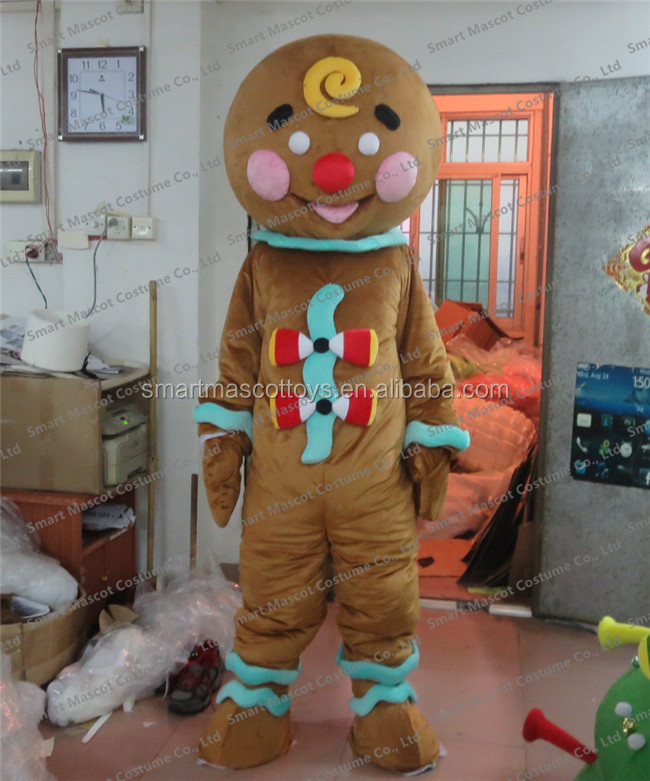 Adult Cookie Gingerbread Mascot Costume Gingerbread Men Costumes For Adult  - Buy Gingerbread Men Costumes,Gingerbread Men Costumes For