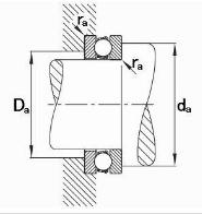 thrust ball bearing drawing