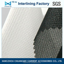 China 100% fusible garment polyester interlining/ fabric woven interfacing