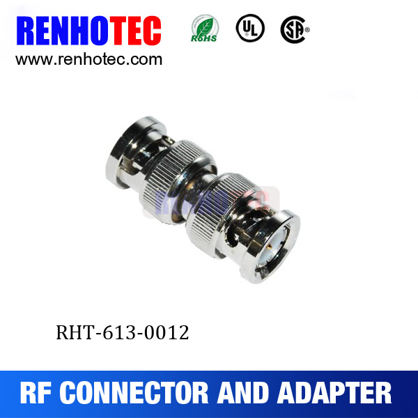 BNC Double Male Connector Adapter for CCTV Coax Cable