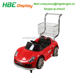 shopping mall baby stroller kids shopping trolley cart for renting