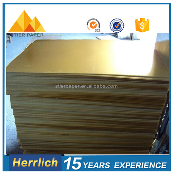 Cheap Coated Gold Foil Printing Paper in China For Offest Printing