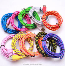 China Factory 3Ft/6Ft/10Ft Nylon Braided Micro Usb Cable, Usb Data Cable Cord For Android 10 Colors Available
