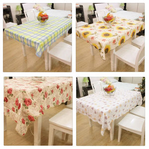 PVC Waterproof And Oilproof Restaurant Home Table Cloth