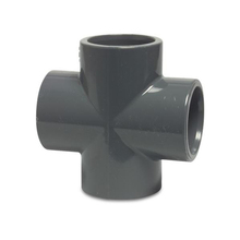 PN16 110 มม.UPVC PVC ท่อ 4 Way 4-Way Connector CROSS Joint TEE