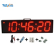 6 inch 6 digits led sports timing 4 channel digital timer