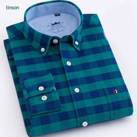 Factory direct custom men casual plaid 100% cotton shirts