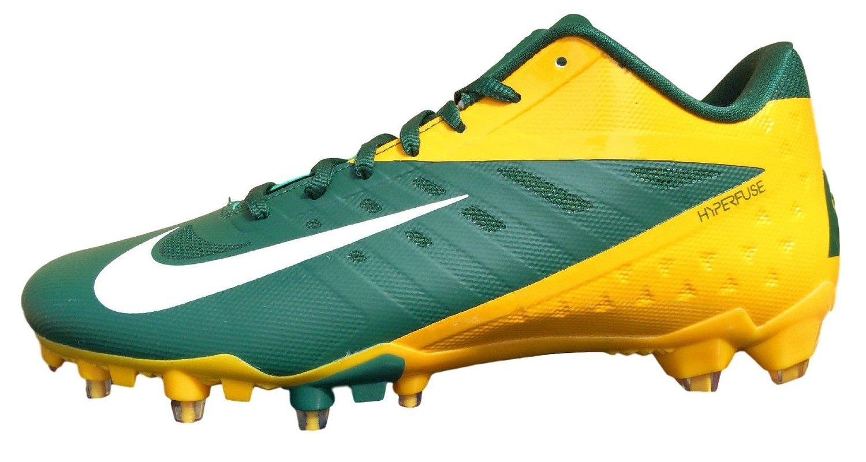 innovative design 5b6f7 f957b Get Quotations · Nike Vapor Talon Elite Low Mens Football Cleats Green  Yellow 534772 Size 16