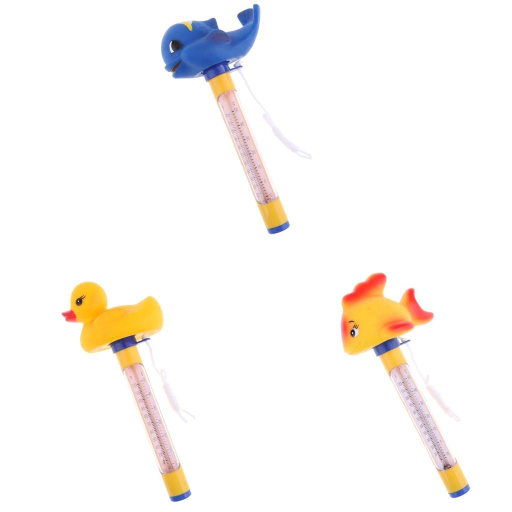 160mm Swimming Pool Spa Floating Thermometer Tub 50℃ 120 ℉ Temperature Crocodile in Glasses