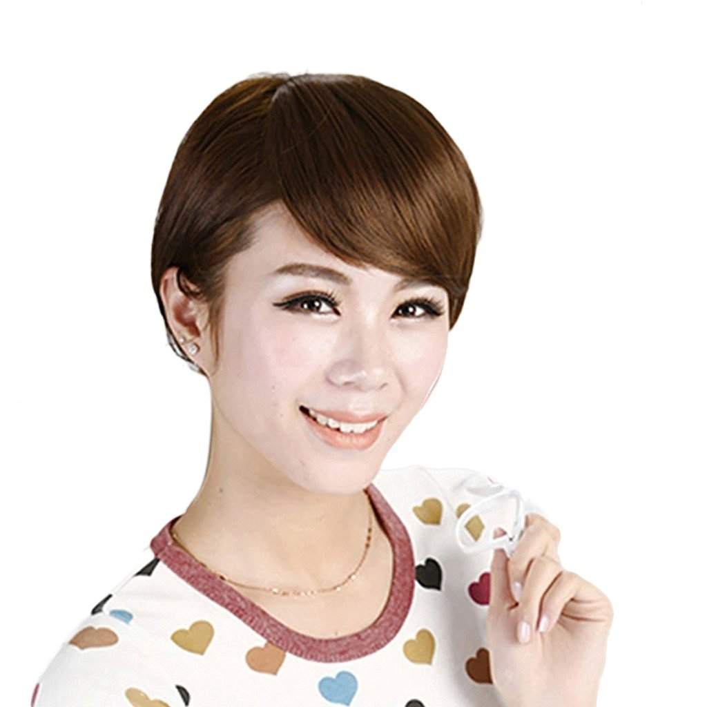 Buy Smilco Hair Lace Front Black Brown Women With Side Bangs Natural