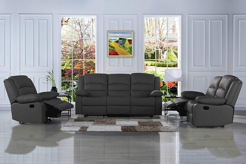 Traditional Clic Reclining Sofa Set