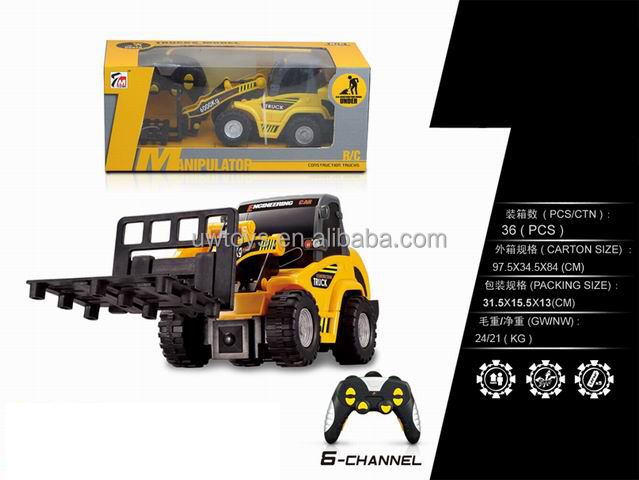 China wholesale 6ch rc forklift, remote control construction truck toy, CY gifts