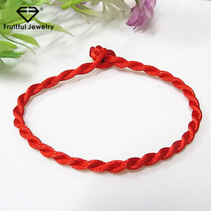 Custom design diy couple Red Thread String Bracelet Lucky Red Green Handmade Rope Bracelet